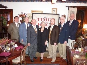 L-R: Mark Cheathem, Mike Ballard, John Marszalek, Jeanne Marszalek, Tim Smith, Horace Nash, Tom Cockrell