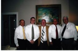 Monty, me, Jack, Fred, and Bill before my lecture at CU in Oct. 2007